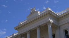 California capitol building front entrance Eagle Stock Footage