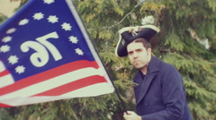 1776 american america soldier revolution USA tea party - stock footage