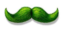 Green Moustache - stock illustration