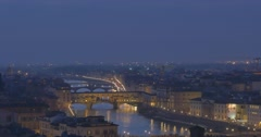 FLORENCE PANORAMA CITY BRIDGE - Ponte Vecchio Stock Footage