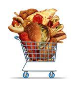 Unhealthy Food Shopping - stock illustration