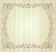 Vintage frame on aged background. Stock Illustration
