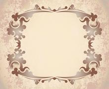 Vintage frame on aged background. Stock Illustration
