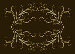 Vintage frame on aged background. - stock illustration