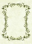 rich-decorated floral frame - stock illustration