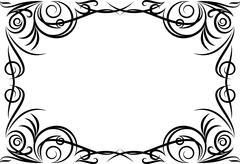 Stock Illustration of Elegant decorative frame.