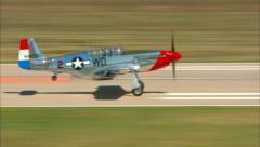 P-51 Mustang Landing Stock Footage