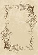 Elegant vintage frame - stock illustration