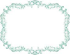 Elegant decorative frame - stock illustration