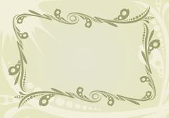 decorative vintage background - stock illustration