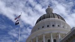California Capitol Dome Closeup Stock Footage