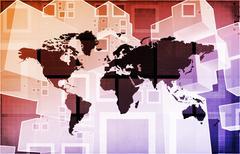 Freight Forwarding and Customs Brokerage - stock illustration