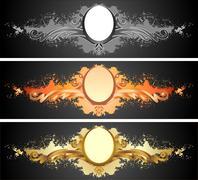 Elegant text frames. - stock illustration