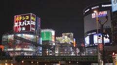 Night lights in Shinjuku Stock Footage