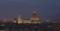 FLORENCE PANORAMA CITY - Cattedrale di Santa Maria del Fiore Stock Footage
