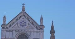 FLORENCE CHURCH - Basilica di Santa Croce Stock Footage