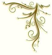 Decorative floral background. - stock illustration