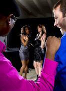Harassment at a Nightclub Stock Photos