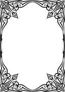 Elegant decorative frame. - stock illustration