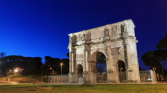 Arch of Constantine. Rome, Italy. Time Lapse. 1280x720 Stock Footage