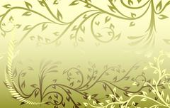 Beautiful green frame. Vector - stock illustration