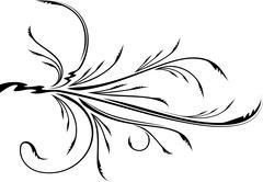 Decorative branch. - stock illustration