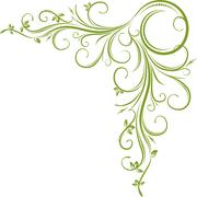 Green corner - stock illustration