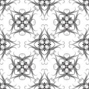 Good-looking seamless pattern. - stock illustration