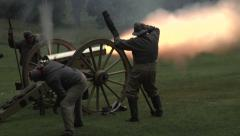 Civil War canon fire Stock Footage