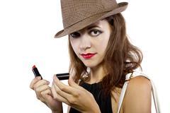 Applying Lipstick Kuvituskuvat