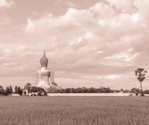 Great Buddha of Thailand Stock Photos
