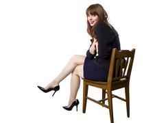 Businesswoman showing off heels Stock Photos