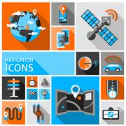 Navigation Icons Set - stock illustration