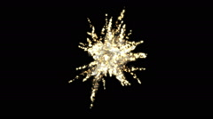Fireworks smoke explosion stage background,abstract particle vj backdrop. Stock Footage