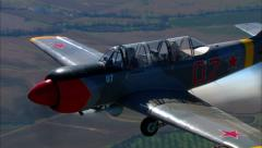 Yakovlev Yak 52 Air to Air Smoke Stock Footage