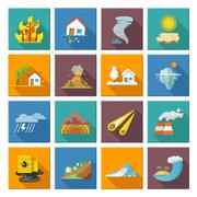 Stock Illustration of Natural Disaster Icons