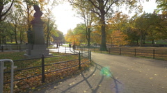 Beethoven Memorial in 4K  in Central Park New York City Stock Footage