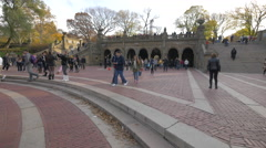 Bethesda Terrace in Central Park in 4K Stock Footage
