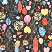Autumn leaves texture - stock illustration