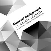 abstract background with triangles - stock illustration