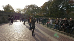 Bethesda Fountain in Central Park in 4K - stock footage