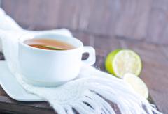 fresh tea - stock photo