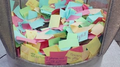 The graduates written their hopes, wishes, future, daydream Stock Footage