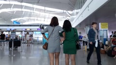 Time lapse of Saigon international airport Stock Footage