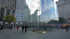 Apple Retail Store in downtown New York in 4K - stock footage