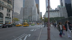 Stock Video Footage of Crossroad near the Apple Retail Store New York City