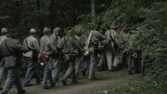 Civil War soldiers Marching Stock Footage