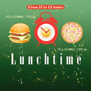 Advertise lunch - stock illustration