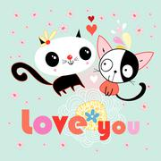 love kittens - stock illustration