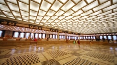 People in events hall on the Kremlin Palace. Stock Footage